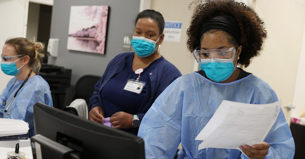 enfermeras en hospital en USA